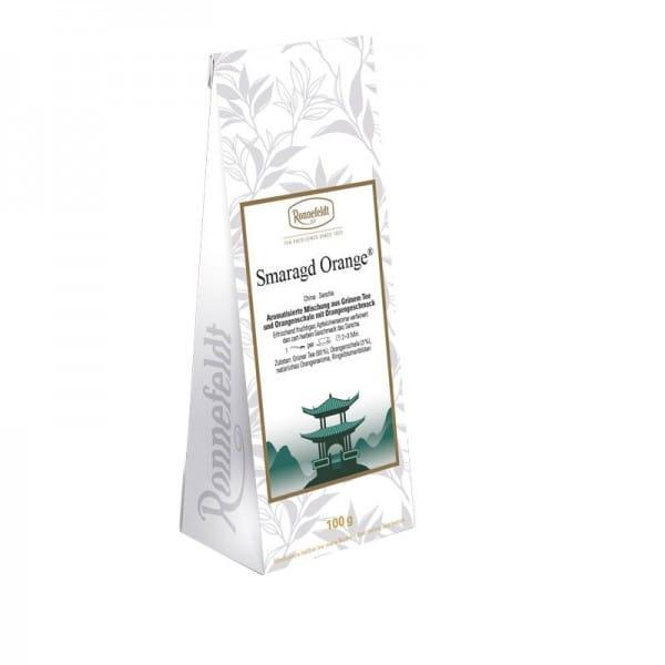 Smaragd Orange aromatisierter grüner Tee 100g