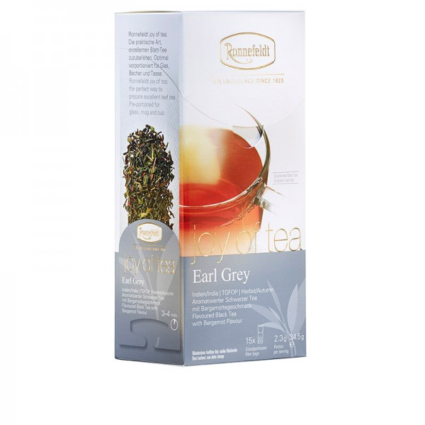 Joy of Tea Earl Grey aromat. schwarzer Tee 15 Teebeutel (Caddy) 34,5