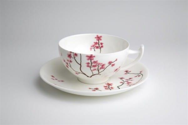 4-TeaLogic Tasse und Untertasse Cherry Blossom-4260132970961