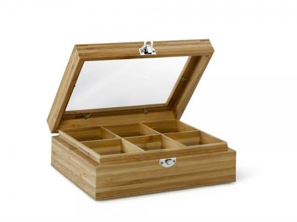 3-Teebeutelbox aus Bambus mit Sichtfenster-8711871033500