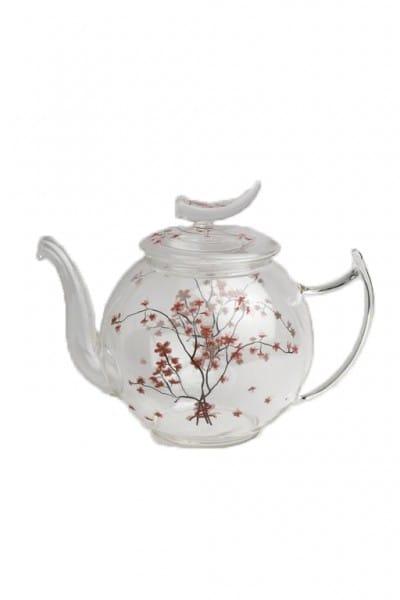 TeaLogic Teapot Glass Cherry Blossom