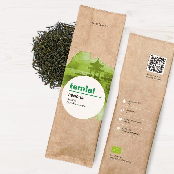 Sencha Bio grüner Tee aus Japan 70g