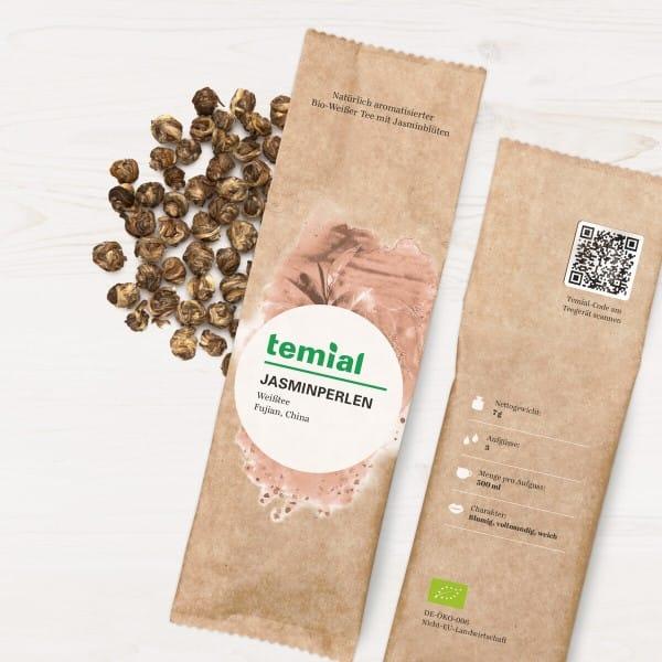 Jasminperlen Bio aromat. grüner Tee 70g
