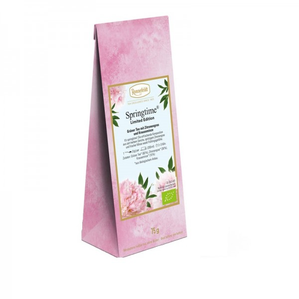 Springtime Bio grüner Tee mit Zitronengras und Krauseminze 75g