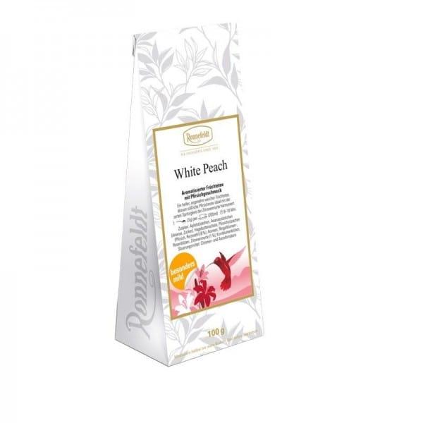 White Peach aromatisierter Früchtetee säurearm 100g