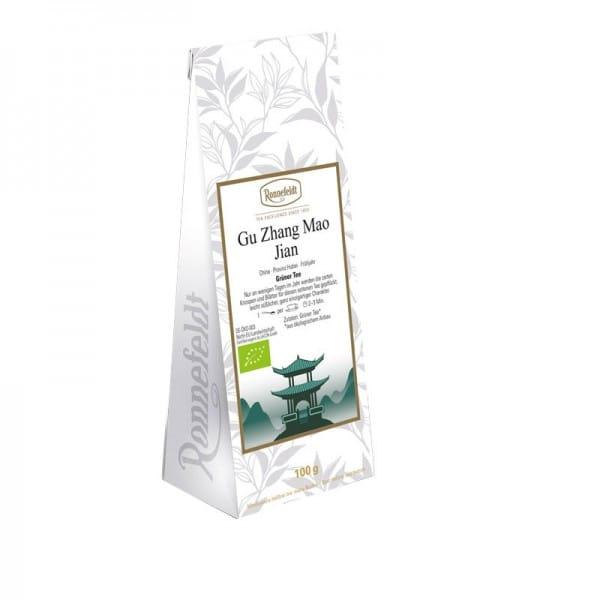 Gu Zhang Mao Jian Bio grüner Tee aus China 100g