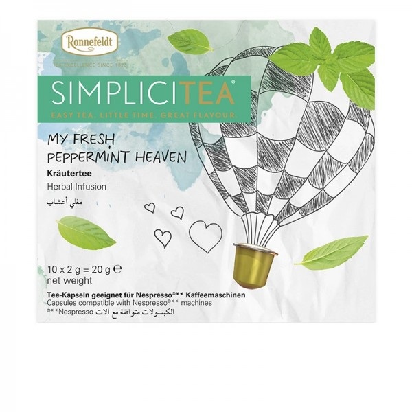 Simplicitea - my fresh Peppermint heaven Kräutertee 10x2g