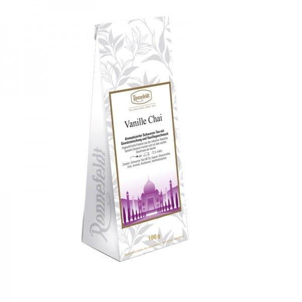 Vanille Chai aromatisierter schwarzer Tee mit Gewürzen 100g