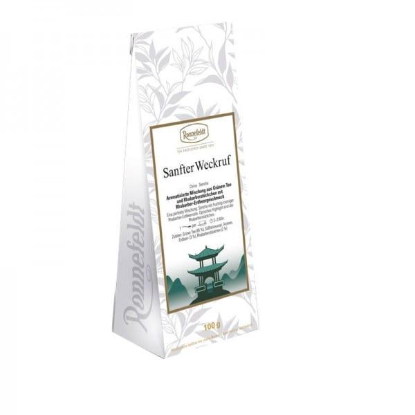 Sanfter Weckruf aromat. grüner Tee Rhabarber-Erdbeere 100g
