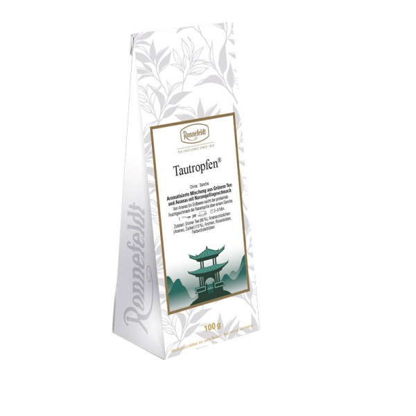 Tautropfen aromatisierter grüner Tee Erdbeere Ananas 100g