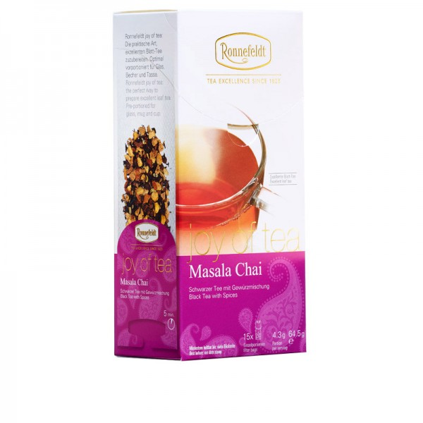 Joy of Tea Masala Chai schw. Tee Gewürzmischung 15 Teebeutel (Caddy) 64,5g