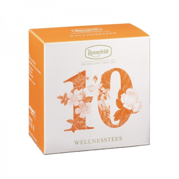 Probierbox Wellness-Tees aromatisierte Kräutertees 10x3,9g
