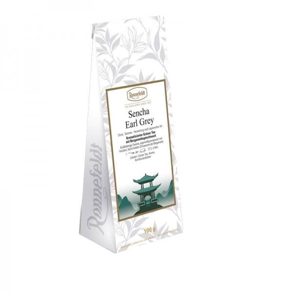 Sencha Earl Grey aromat. grüner Tee 100g