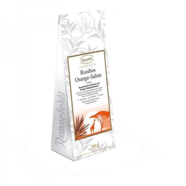 Rooibos Orange Sahne aromatisierter Kräutertee 100g