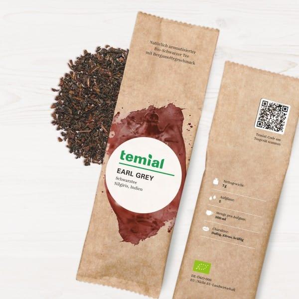 Earl Grey Bio aromat. schwarzer Tee 10 Teebeutel 70g