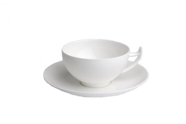 Tasse und Untertasse Epsilon weiß