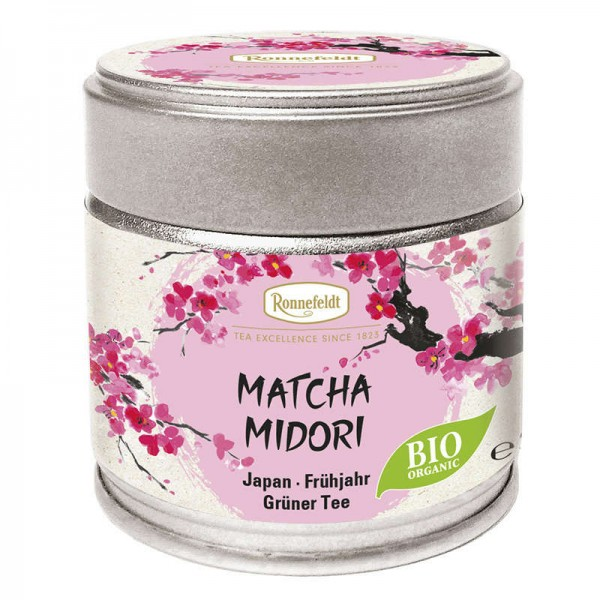 Matcha Midori (Hikari) Bio grünes Teepulver aus Japan 30g