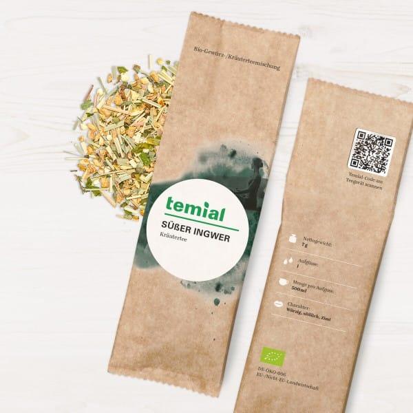 Süßer Ingwer Bio Kräutermischung 70g