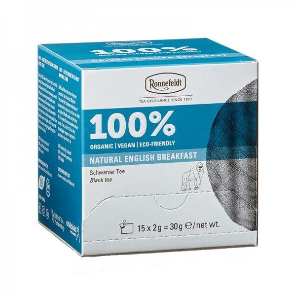 Premium-Teebeutel-100% Natural English Breakfast Bio 15 Teebeutel 30g