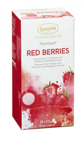 Teavelope Red Berries aromat. Frjüchtetee 6er Pack (6x25 Teebeutel)