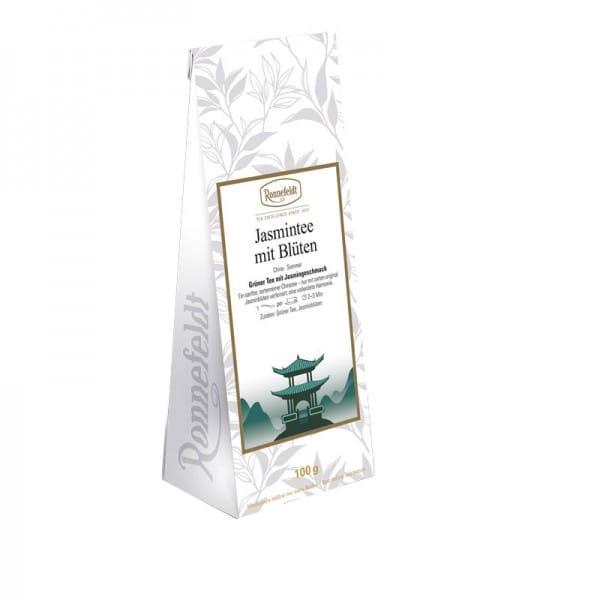 Jasmintee mit Blüten grüner Tee 100g