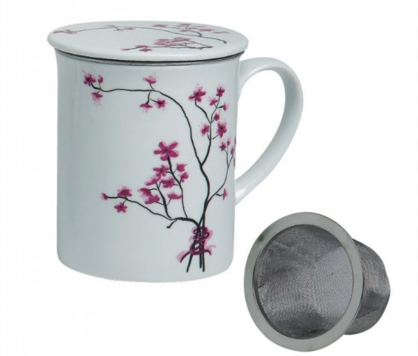 4-TeaLogic Kräuterteetasse Cherry Blossom (Porzellan)-4260132979292
