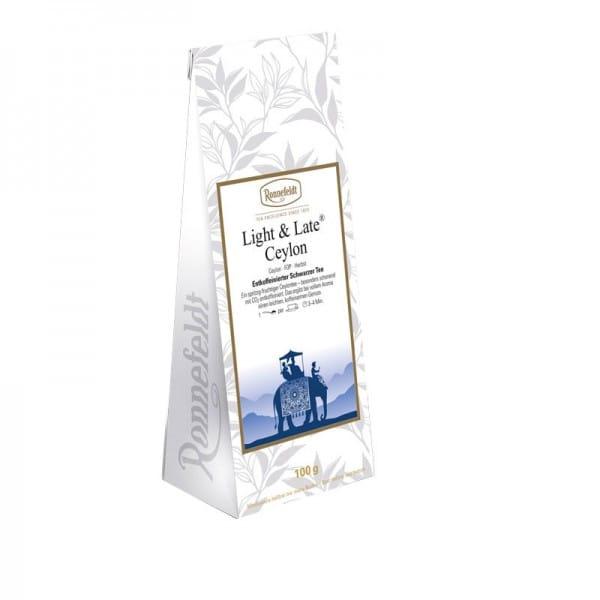 Light & Late Ceylon schwarzer Tee entkoffeiniert 100g