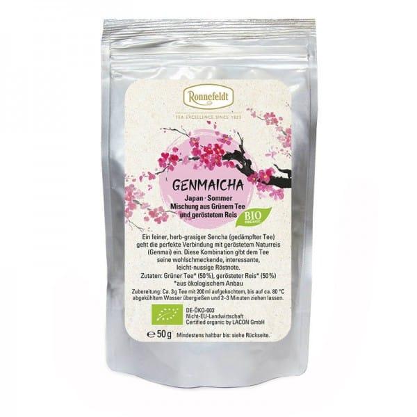 Genmaicha Bio Teemischung grüner Tee u. Reis aus Japan 50g