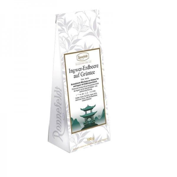 Ingwer-Erdbeere auf Grüntee aromatisierter grüner Tee 100g