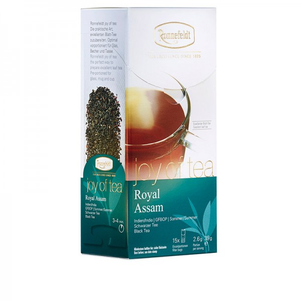 Joy of Tea Royal Assam schwarzer Tee 15 Teebeutel (Caddy) 39g
