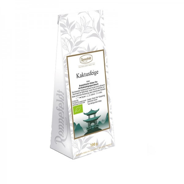 Kaktusfeige Bio grüner Tee mit Kaktusfeigengeschmack 100g