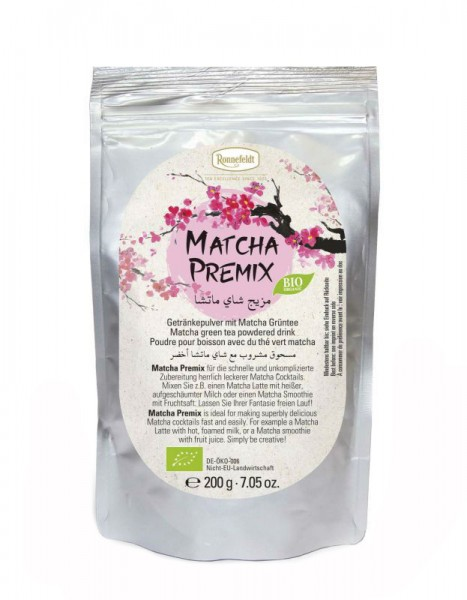 Matcha Premix Bio Getränkepulver mit Matcha Grüntee 200g