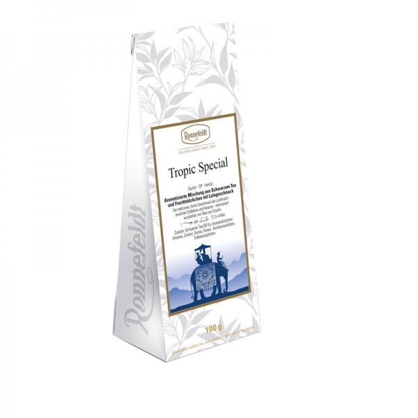 Tropic Special aromatisierter schwarzer Tee 100g